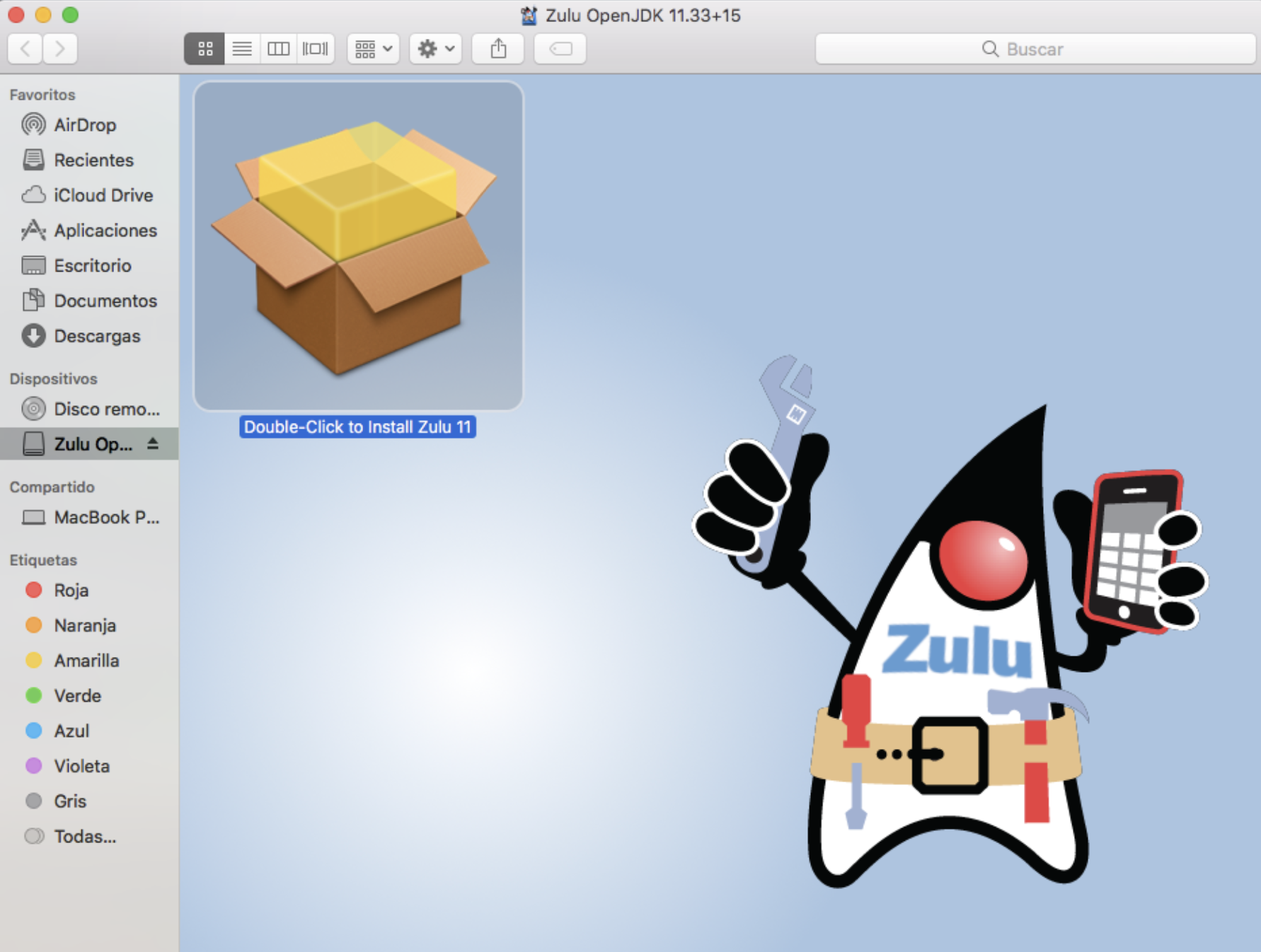 Instalación Zulu OpenJDK